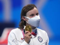 Katie Ledecky claimed her first gold of Tokyo 2020 in the women's 1500m freestyle on Wednesday (Adam Davy/PA)