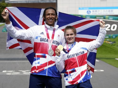 Beth Shriever and Kye Whyte with their medals (Danny Lawson/PA)