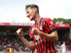 David Brooks celebrates scoring Bournemouth's first goal (Kieran Cleeves/PA)