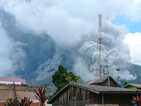 Indonesia's Mount Sinabung (Sastrawan Ginting/AP)