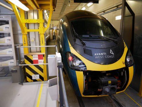 A rail operator has launched the UK's largest refurbishment of a train fleet (Avanti West Coast/PA)