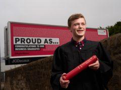 The names of Edinburgh Napier University graduates are appearing on billboards around the capital (Malcolm Cochrane/PA)