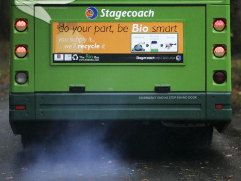 A further £5.7 million is being made available to help buses meet new emissions standards (Andrew Milligan/PA)