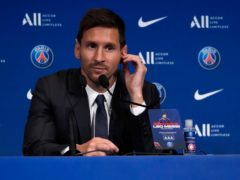 Lionel Messi has been unveiled by PSG (Francois Mori/AP)