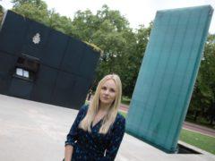 Lissie Harper at the National Police Memorial in London (Martis Media/PA)
