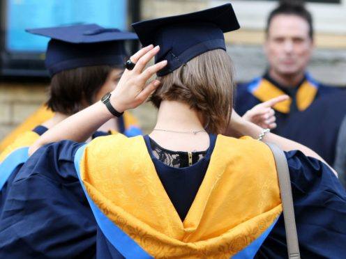 It is estimated one million young people will apply for university in 2025 (Chris Radburn/PA)