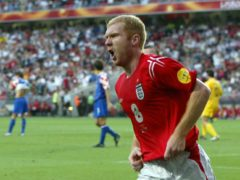 Paul Scholes retired from international football at the age of just 29 (Owen Humphreys/PA)
