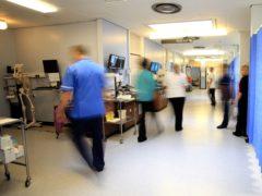 A ward at the Royal Liverpool University Hospital, Liverpool.