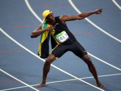 Usain Bolt offered up the customary celebrations after his third Olympic 100m title (Mike Egerton/PA)