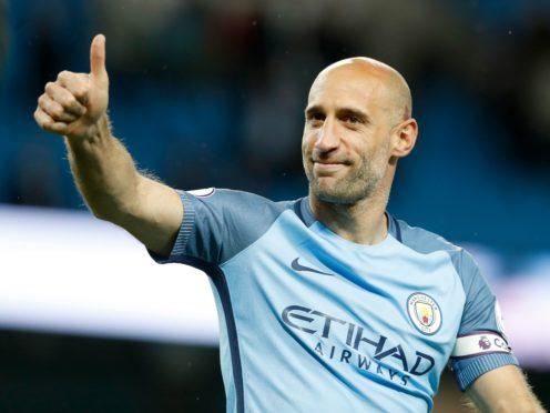 Ex-Manchester City defender Pablo Zabaleta would like to see Harry Kane at the Etihad Stadium (Martin Rickett/PA)