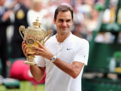 Roger Federer won eight Wimbledon titles (Gareth Fuller/PA)