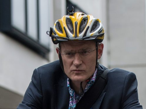 A video of cyclists riding four abreast filmed by broadcaster Jeremy Vine sparked an angry reaction on social media (Lauren Hurley/PA)
