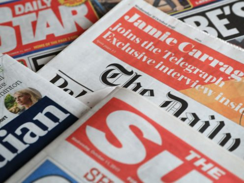 What the papers say – August 19 (Peter Byrne/PA)