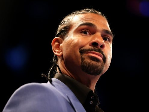 David Haye is set to fight for the first time in three years (Steven Paston/PA)