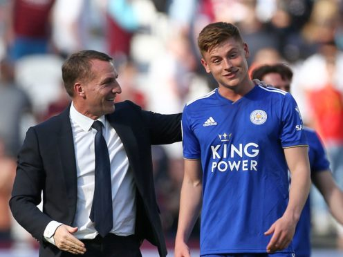 Leicester boss Brendan Rodgers has tipped Harvey Barnes for the top (Yui Mok/PA)