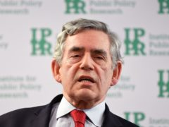 Former prime minister Gordon Brown (Victoria Jones/PA)