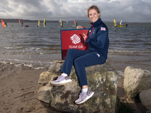 Hannah Mills during the Team GB Tokyo 2020 Sailing team announcement in Poole (Andrew Matthews/PA)
