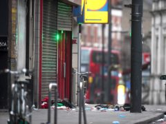The scene in Streatham High Road after Sudesh Amman launched his terror attack (Victoria Jones/PA)