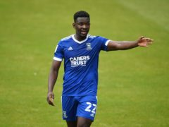 Ipswich defender Toto Nsiala is a doubt for the Carabao Cup tie against Newport (Joe Giddens/PA)