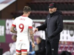 Southampton boss Ralph Hasenhuttl (right) will have to do without the goal threat of Danny Ings (Peter Powell/PA)