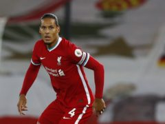 Liverpool's Virgil Van Dijk will make his second pre-season appearance on Thursday (Jason Cairnduff/PA)