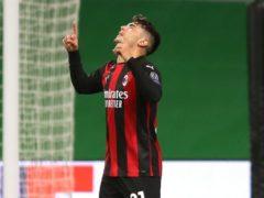 Brahim Diaz scored AC Milan's winner on Monday (Jane Barlow/PA)