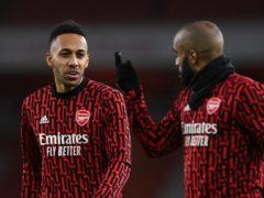 Arsenal's Pierre-Emerick Aubameyang and Alexandre Lacazette tested positive for coronavirus (Shaun Botterill/PA)