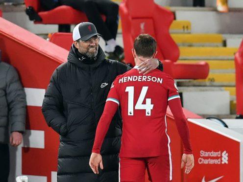 "Liverpool manager Jurgen Klopp insists uncertainty over captain Jordan Henderson's contract situation will ""get sorted"" (Paul Ellis/PA)"