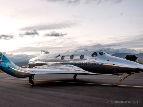 Handout photo issued by Virgin Galactic of their third craft VSS Imagine (Virgin Galactic/PA)