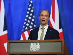 The FCDO says Foreign Secretary Dominic Raab did not doge quarantine rules after a recent visit to France (Chris J Ratcliffe/PA)