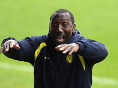 Burton boss Jimmy Floyd Hasselbaink was frustrated by the loss at Cambridge (Bradley Collyer/PA)