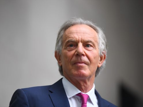 Former prime minister Tony Blair said Western allies did not need to withdraw from Afghanistan (Victoria Jones/PA)