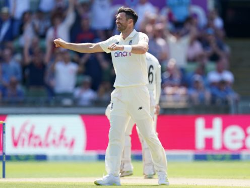 James Anderson moved third in the all-time list of Test wicket-takers (Mike Egerton/PA)