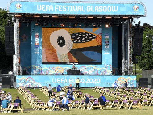The zone in Glasgow could hold up to 6,000 people per day but interest waned after Scotland were knocked out (Ian Rutherford/PA)