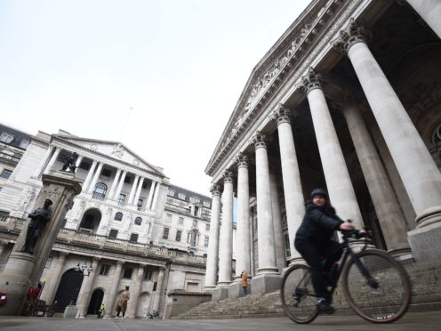 The Bank of England has warned inflation will soar this year, but insisted surging prices will only be temporary as it kept interest rates on hold (PA)