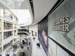 The main retail space inside the St James Quarter shopping centre in Edinburgh (Jane Barlow/PA)