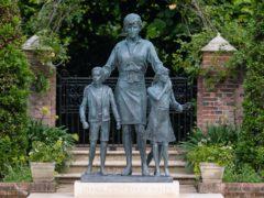 The statue of Diana, Princess of Wales, by artist Ian Rank-Broadley, in the Sunken Garden at Kensington Palace (Dominic Lipinski/PA)