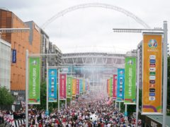 Huge numbers were present at Wembley for the Euro 2020 Final (Zac Goodwin/PA)