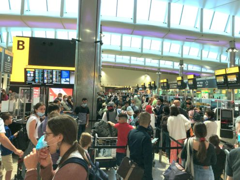 Airports have been the scene of chaos because of coronavirus requirements (Fiona Brett/PA)