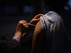 Someone receives a vaccine (Yui Mok/PA)