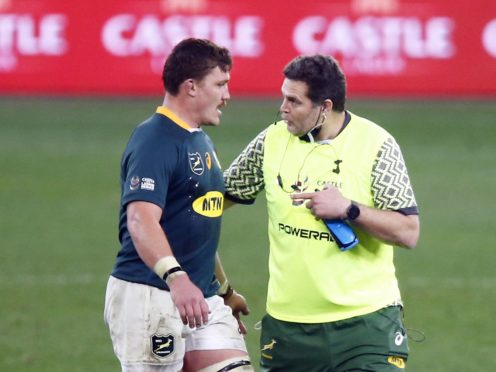 South Africa's Rassie Erasmus, right, won the off-field mind games battle ahead of the second Test with the Lions (Steve Haag/PA)