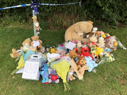 Tributes left in Pandy Park in Bridgend, south Wales (Claire Hayhurst/PA)