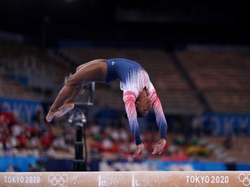 Simone Biles took home a bronze (Mike Egerton/PA)