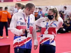 Jason, left, and Laura Kenny now have 13 Olympic medals between them (Danny Lawson/PA)