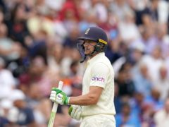 Jos Buttler walks off after being caught out during day one (Tim Goode/PA)