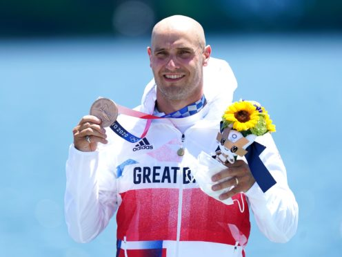 Great Britain's Liam Heath after winning bronze in the kayak 200m (PA)
