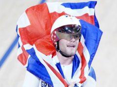 Great Britain's Matt Walls celebrates gold in the men's omnium (Danny Lawson/PA Images).