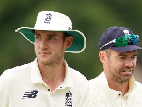 England's Stuart Broad (left) and James Anderson are both doubtful for the second Test (Tim Goode/PA)