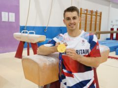Olympic gold medal gymnast Max Whitlock at South Essex Gymnastics Club in Basildon where he trains (Ian West/PA)