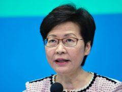Hong Kong chief executive Carrie Lam (Vincent Yu/AP)